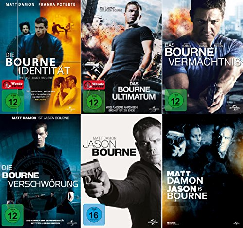 Jason Bourne Collection - Identität + Vermächtnis + Ultimatum + Verschwörung + Jason Bourne (5-DVD) Kein Box-Set