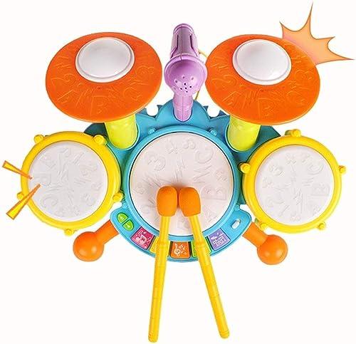X-Kindertrommel Größe Jazz Drum Percussion Musikinstrument Trommel Mit Mikrofon Frühen Kindheit Lernspielzeug (Farbe   Bunte)