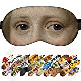 Sleep Mask Girl Dressed in Blue Verspronck Masterpieces for Women - 100% Soft Cotton - Comfortable Eye Sleeping Mask Night Cover Blindfold for Travel Airplane (Girl Dressed in Blue, Gift Pack)