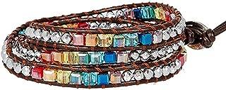 YGLINE Dazzling Handmade Leather Wrap Bracelet Collection