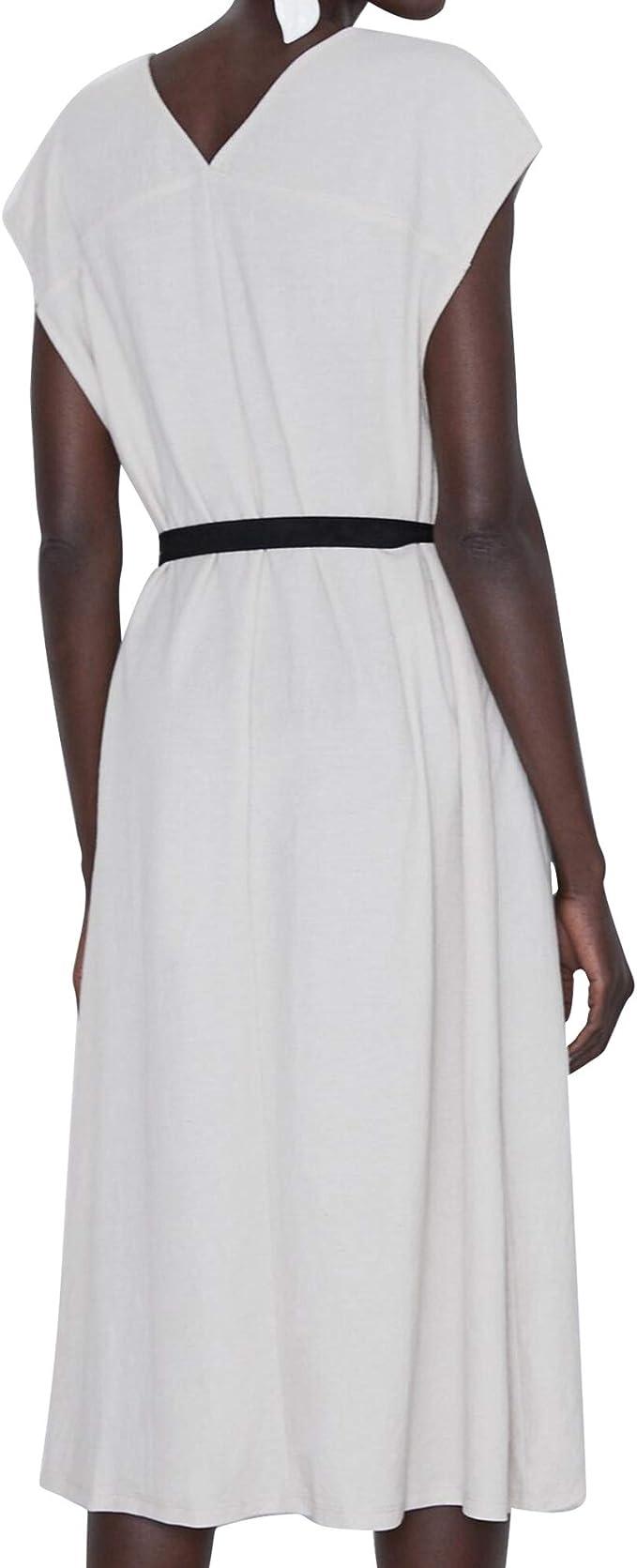 Zara 5580/628 - Vestido con cinturón para Mujer - Gris ...