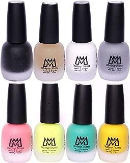Makeup Mania Premium Nail Polish Set, Velvet Matte Nail Paint Combo of 8 Pcs, Perfect Gift for Girls and Women (Set No. 60-70), Multicolor, 600 g