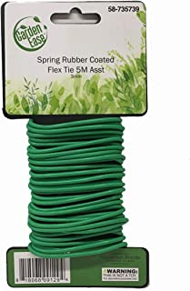 3mm Diameter - 5M Length Spring Soft Rubber Coated Flex Tie - Multi Purpose Garden Flexible Tie Plant Wire Soft Twist Ties Support Plant Vines, Stems & Stalks