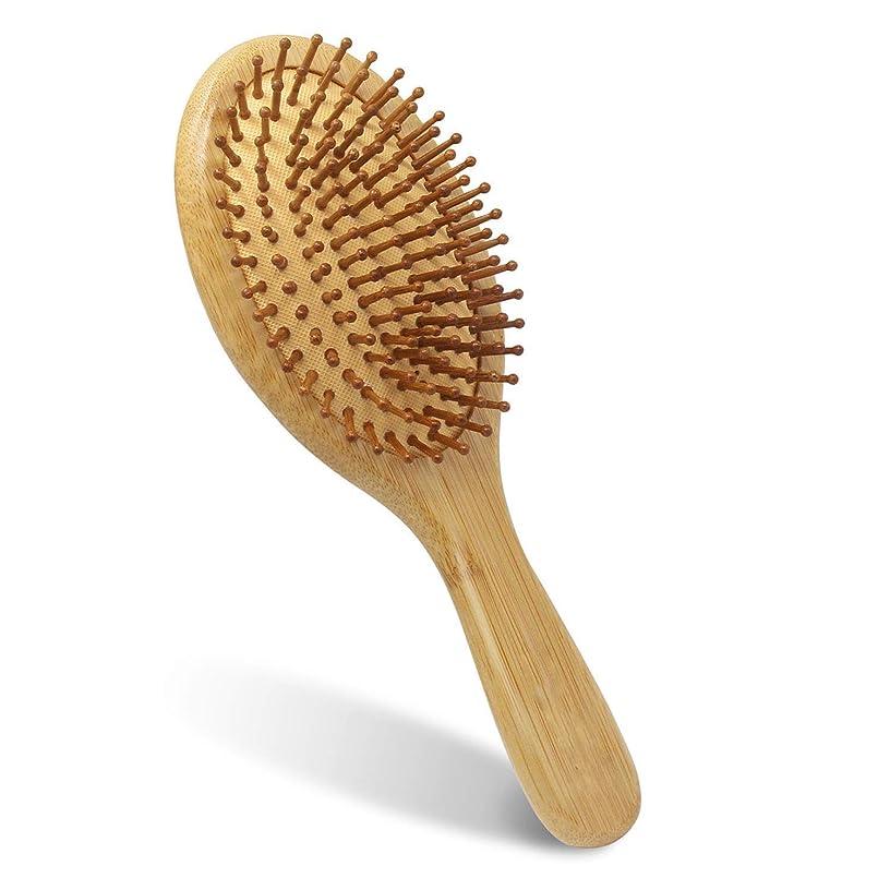 菊好ましい保存ヘアブラシ 木製 くし 天然楠竹のくし Anmiyo ヘアケア 頭皮マッサージ 静電気防止 美髪ケア