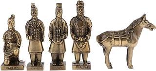 XLEVE 5つの小品兵馬俑、秦兵馬俑は、手工芸品、合金装飾品、観光客特別なギフト、装飾品土産フィギュア