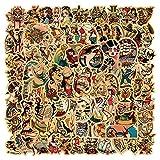 RGBEE Vintage Sticker Set 100 Stücke, Retro Mädchen Aufkleber für Skateboard Laptop Koffer Helm Motorrad Auto Fahrrad Computer, Sexy Mädchen Seemann Wasserfeste Aufkleber Stickerbomb