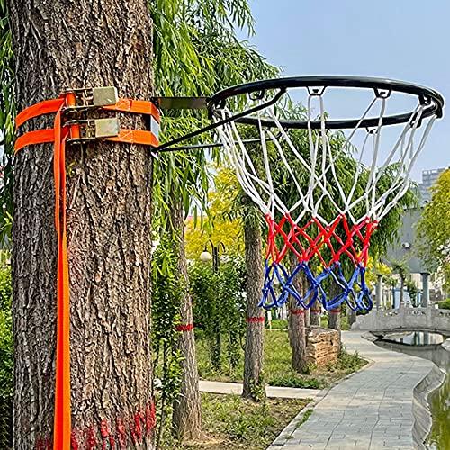 Canasta de baloncesto Soporte De Pared para Exteriores con Llanta De Baloncesto con Correa Ajustable, Aro De Baloncesto Y Porterías Colgantes para Niños Pequeños, Niñas, Niños, Niños Y Adultos
