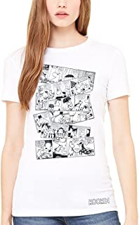 a26fc7817 Official Moomin Falls In Love Comic Strip Women's T-shirt Finland Swedish  Books Moominvalley