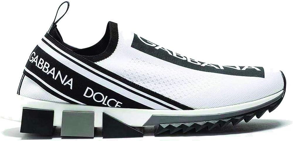 Dolce & gabbana sorrento, scarpe sneakers per uomo, numero 41 eu, in mesh elasticizzato CS1595AH67789697