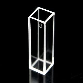 Set of 2 Optical Glass Fluorescence Cuvettes, 1cm 10mm, Fluorometer Cell Cuvette