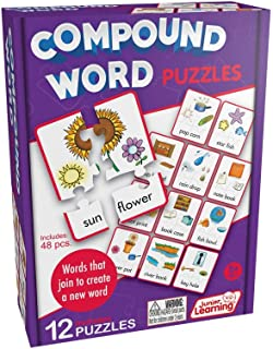Junior Learning JL244 Compound Word Puzzles, Multicolor