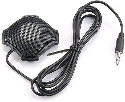 Pickup omnidirezionale microfono con jack audio da 3.5mm a condensatore Conferenza microfono per Skype VOIP chiamata Voice Chat (nero) - Trova i prezzi più bassi
