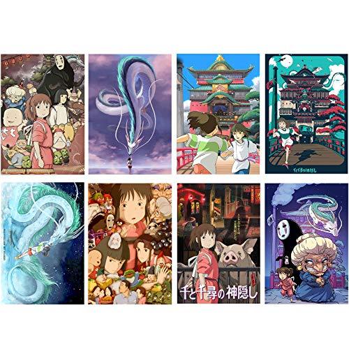 Spirited Away Anime Poster Home Decoration Frameless Poster 11.5x16.5 Inch