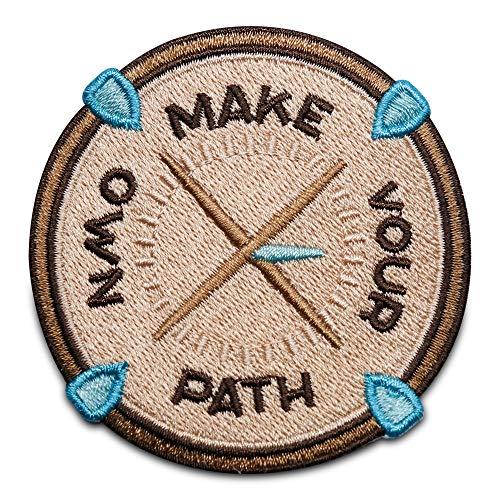 Finally Home Make Your own Path Kompass Patch zum Aufbügeln   Wandern Patches, Bügelflicken, Flicken, Aufnäher