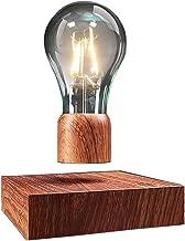 VGAzer unosząca się lampa stołowa LED z przyciskiem dotykowym magnetyczna o szlachetnym wyglądzie drewna, bezprzewodowa ża...