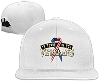 In-Honor-Of-Our-Veterans Snapback Flat Baseball Fit Cap Black