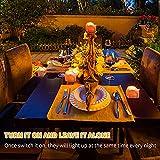 Kasimir e kerzen LED Kerzen Flammenlose 15 Stück Teelichter mit Timer 6 Std an - 18 Std aus - Realistisches Flammenflackern Für Hochzeiten Feste Partys usw. Inkl CR2032 Batterien Bernstein - 9