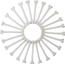 24 Pieces Plastic Bones Simulative Human Skeleton Costume Bones for Halloween Party Prop Cosplay Accessories Ivory