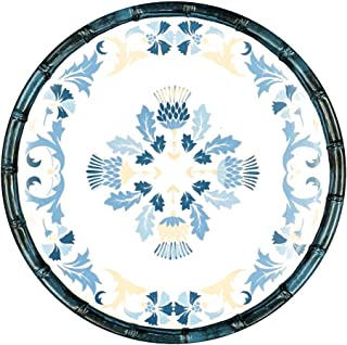 Les Jardins de la Comtesse - Petite Assiette Plate à Dessert Bleue/Beige - Assiette en Mélamine du Service de Table Lisbon...