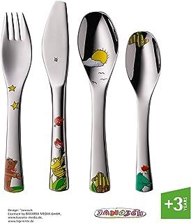 WMF Janosch - Cubertería para niños 4 piezas (tenedor, cuchillo de mesa, cuchara y cuchara pequeña) (WMF Kids infantil)
