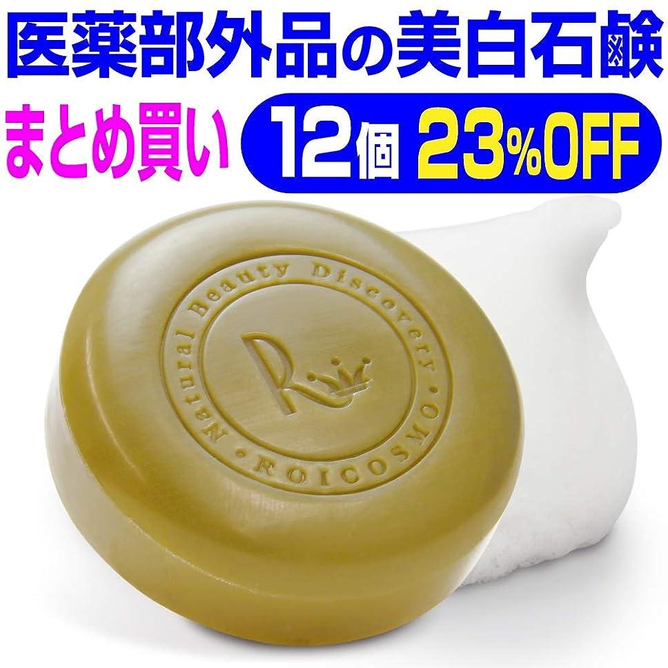 生態学分析的アロング12個まとめ買い23%OFF 美白石鹸/ビタミンC270倍の美白成分配合の 洗顔石鹸『ホワイトソープ100g×12個』