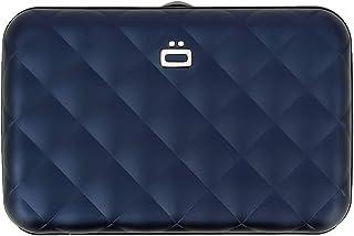 ÖGON Smart Wallets - Portefeuille Femme en Aluminium Quilted Button - Porte-Cartes Anti-RFID - Capacité 10 Cartes et Bille...