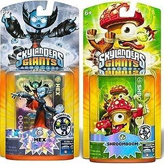 Activision Skylanders Giants Shroomboom and Hex Lightcore Character Figure   Bundle Bonus Pack