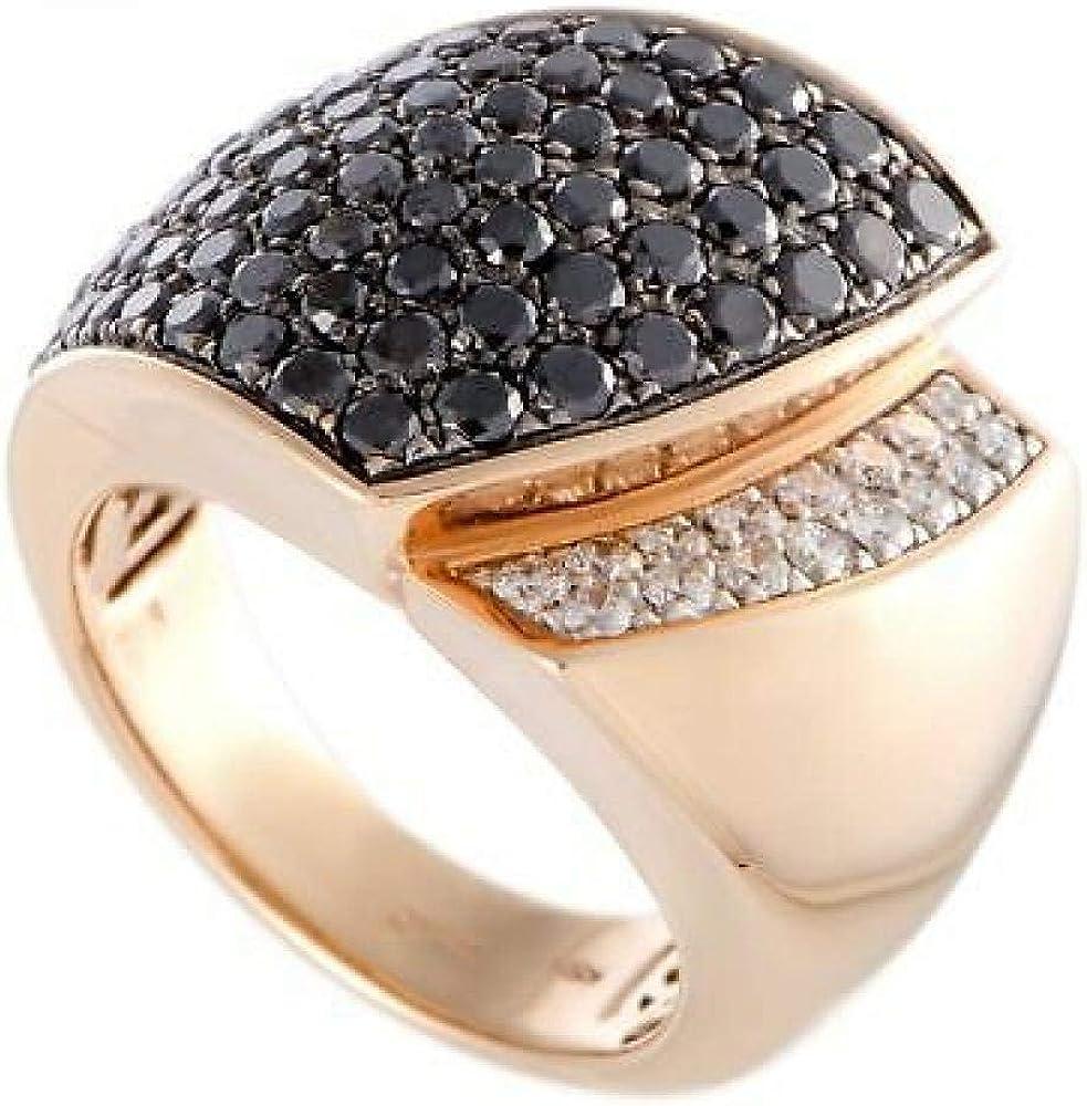Chimento,anello per donna,in oro 18kt(17,1 gr)e diamanti bianchi0,28 ct e neri 2,07 ct 1A07155BNT140-17