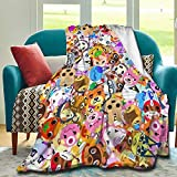 Vivilineneu Animal Crossing Blanket Artistic Lightweight Comfortable and Soft Micro-Fleece Travel Blanket (80 X 60 Inches, A Gift from Mom and Dad)