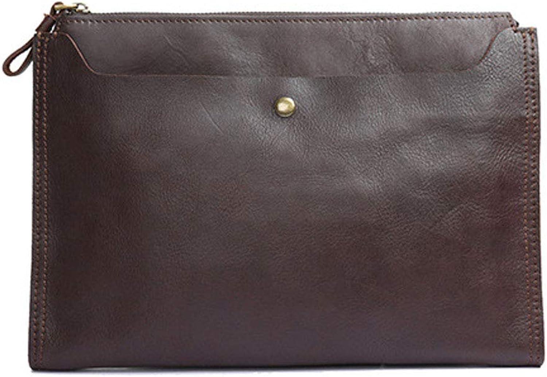Yocobo Herren Messenger Brifecase Mens Mens Mens echtes Leder Clutch Geldbörse Brieftasche Handtasche Schultergurt Clutch für Männer Frauen (Farbe   Braun) B07PQV4966 72d56a