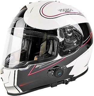 Flip-Up Motorbike Helmets with Built-In Bluetooth Motocross Enduro Double Lens Motorcycle Women Men Adults Helmet Scratch-...