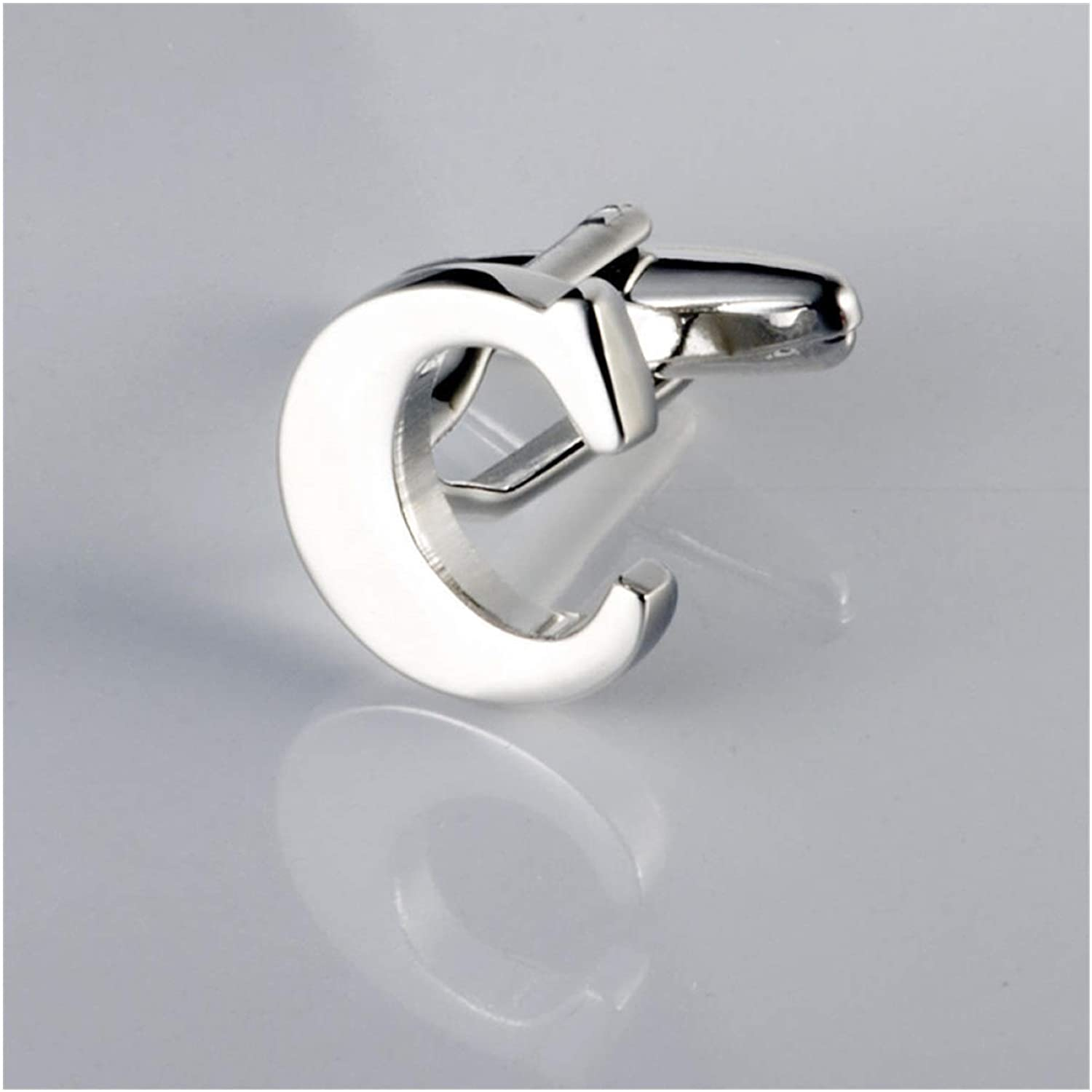 bayue Letter In a popularity Cufflinks Pure Metal Sh Gift Max 90% OFF Silver Groom