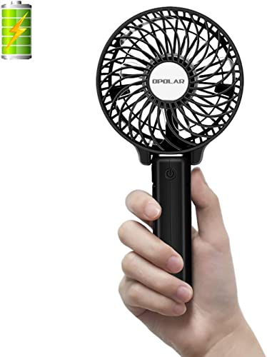 OPOLAR Small Handheld Battery Operated Personal Fan, Rechargeable Portable Travel Fan with 2200mAh Battery, Foldable,...
