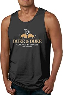Pzenwts Duke & Duke Commodities Brokers Cool Style Vest,Fashion Men's Personality Soft T Shirt