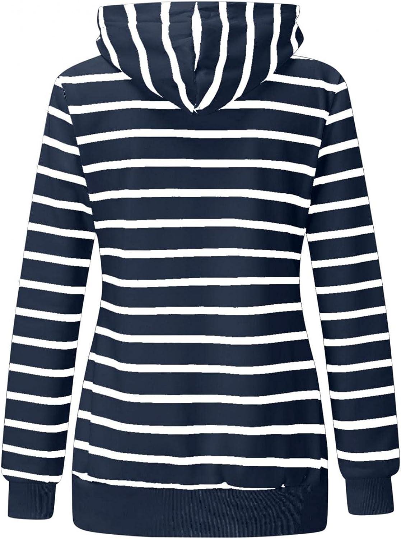 FABIURT Zip Up Sweatshirt for Women,Womens Fashion Casual Hoodie Long Sleeve Hooded Sweatshirt Pockets Jacket Coat Tops
