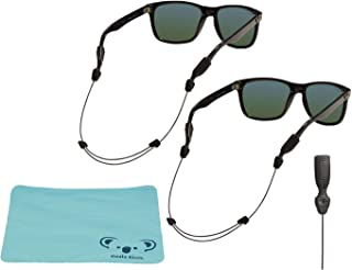 Orbiter Adjustable Eyewear Retainer Wire Sunglass Strap | Thin Eyeglass and Sports Glasses Cable Holder Keeper Lanyard | 2pk Bundle + Cloth