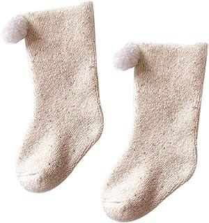Ssowun, Calcetines Invierno para Niñas Pequeñas Cálido Calcetines Altos para Bebé Niños