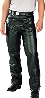 Xelement B7400 'Classic' Men's Fitted Leather Pants - 40