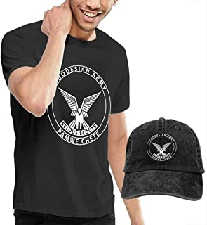 Selous Scouts Mens Cotton Crewneck Short Sleeve T Shirt and Washed Baseball Cap