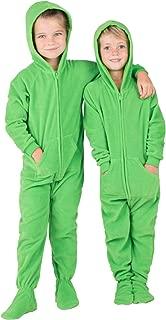emerald green footed pajamas