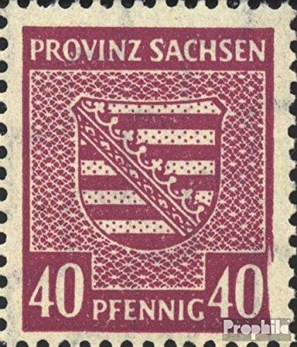 Sovjet Zone (Allied.Cast.) Mi.-Aantal.: 84Y II, Scherm rechts onder gebroken (Veld 92) 1945 Provinciale Wapen (Postzegels voor verzamelaars)