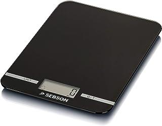 SEBSON Balance de Cuisine numérique 5kg, Balance de Précision 1g, gramme et ML, Fonction de pesée (Tare), Grande Surface d...