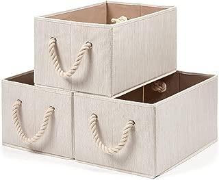 EZOWare 3 pcs Cajas de Almacenaje, Caja Decorativa de mimbres