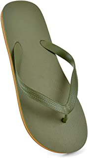 DINZIO® Mens Plain Summer Beach Flip Flops Pool Shoes