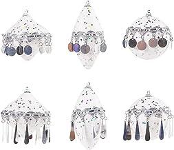 Ydh 6 stuks pailletten kwastje gekleurde bal kerstboom hanger decoratie opknoping ornament huisdecoratie feestelijke feest...
