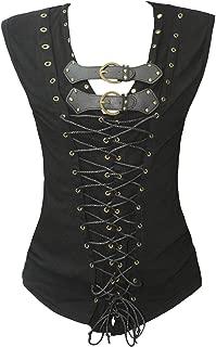 Mens Medieval Steampunk Vampire Hunter Waist Coat Vest T Shirt
