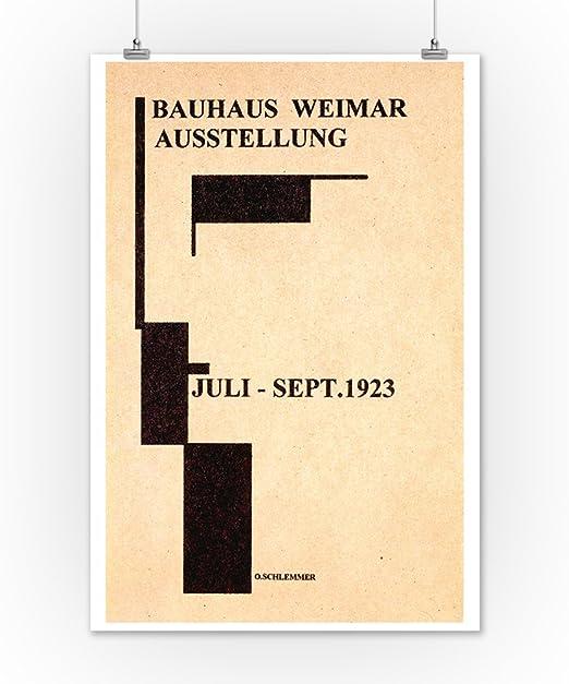 German Bauhaus Design Poster 1923 Fine Art Paper Giclee Print 24x34 in.