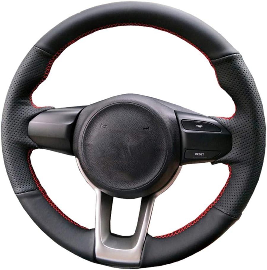 HCZSZH Black Car Steering Wheel Cover, K2 Rio KX Special Campaign for Kia Tampa Mall Cross