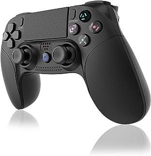 GEEMEE Controller Wireless per PS-4, Joystick Controller Touch Panel con Doppia Vibrazione a Sei Assi e Audio,Bluetooth Se...