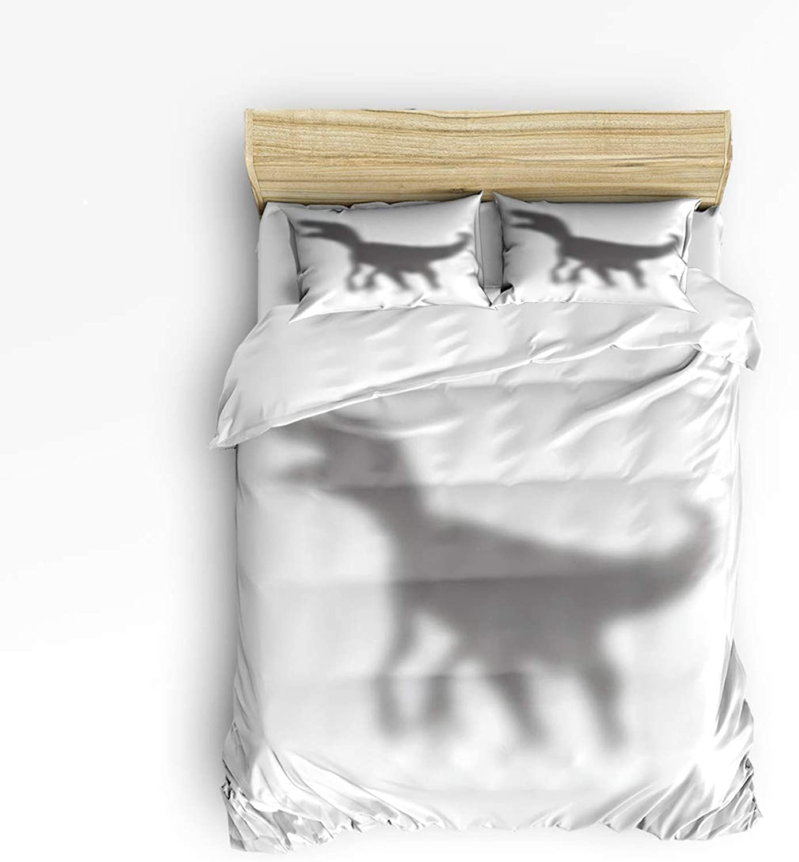 Fandim Fly Bedding Set Full Size Dinosaur Silhouette,Comforter Cover Sets for All Season